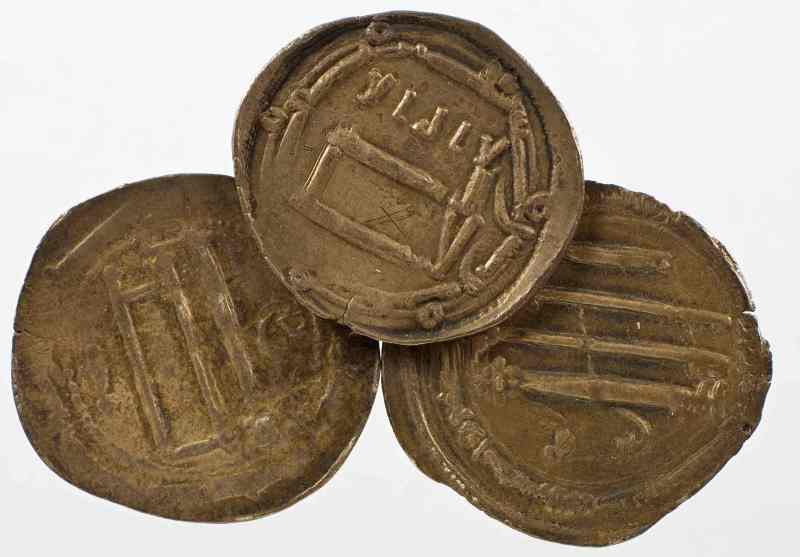 arabische Münzen, gefunden in Steckborn am Bodensee