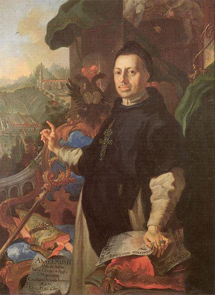 Porträt von Anselm II. Schwab, Abt von Salem