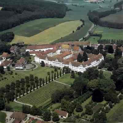 Luftaufnahme des Klosters Salem