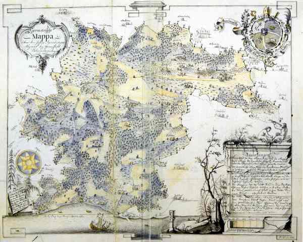 """Salem und seine Umgebung auf der """"Salem Mappa 1765"""""""