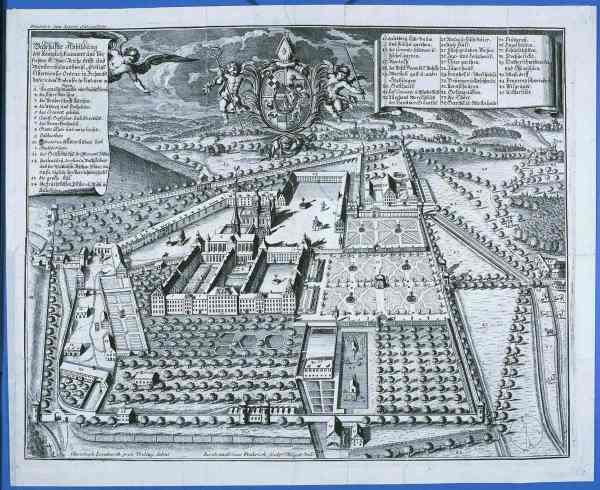Prospekt der Zisterzienserabtei Salem. Kupferstich (Ausschnitt) v. J. Fridrich nach Chr. Lienhardt, 1708.