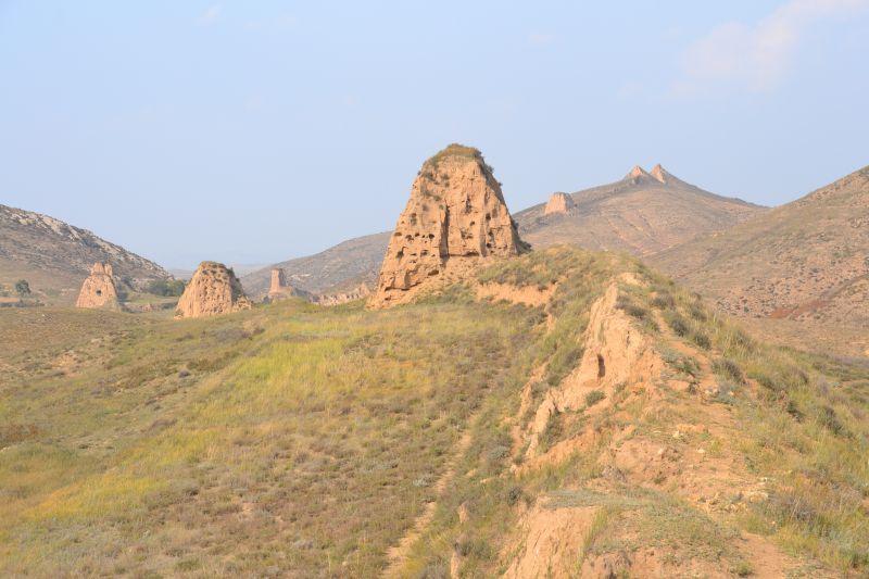 Überreste der Han-Mauer aus dem 2. Jh. n. Chr.