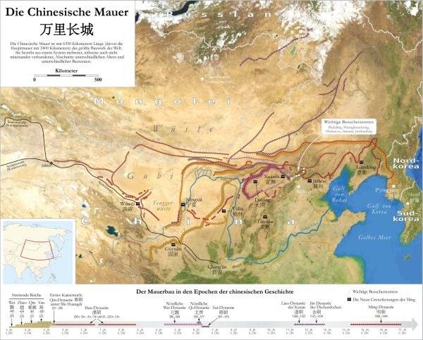 Karte der Mauer