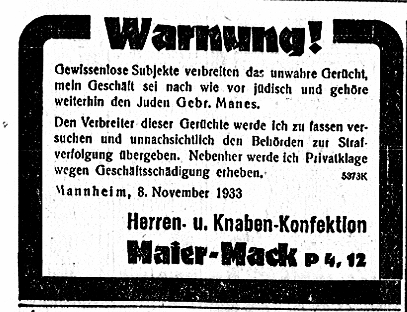 Maier-Mack warnt