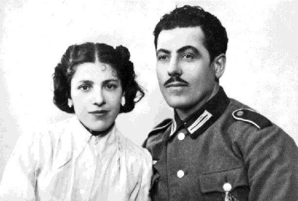 Emil Christ mit seiner Cousine