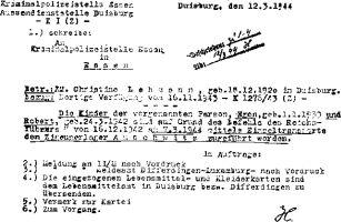 Deportation der Kinder nach Auschwitz
