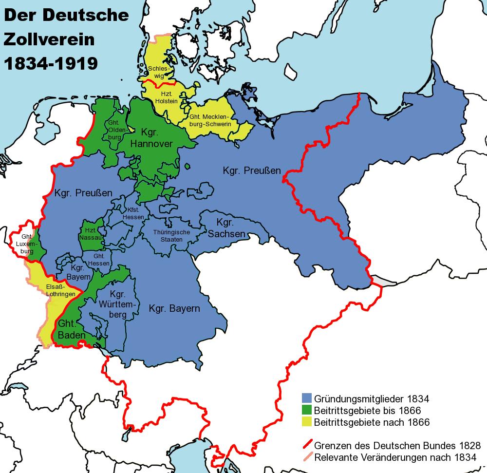Der deutsche Zollverein bis 1866