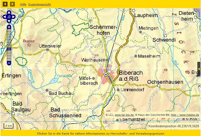 Raum Biberach 1815