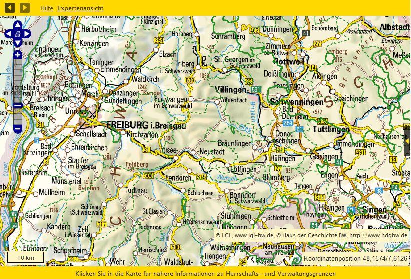 Südliches Baden 1815