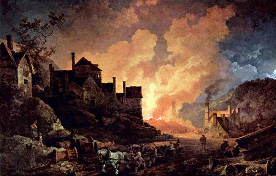 Philipp Jacob Loutherbourg the Younger, Coalbrookdale at Night, 1801