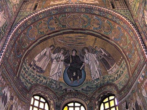 Thronender Christus, San Vitale, Ravenna