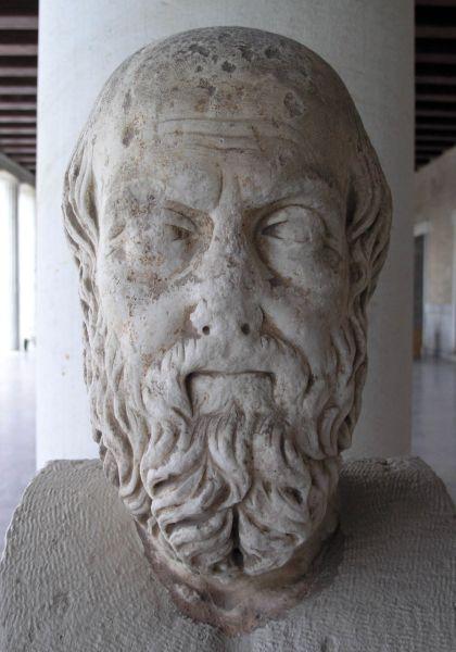 Büste des antiken Geschichtsschreibers Herodot