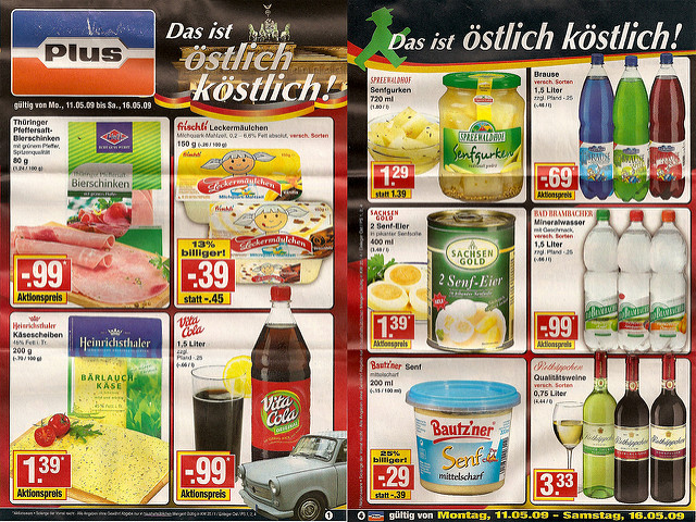 Werbung mit Ost-Produkten