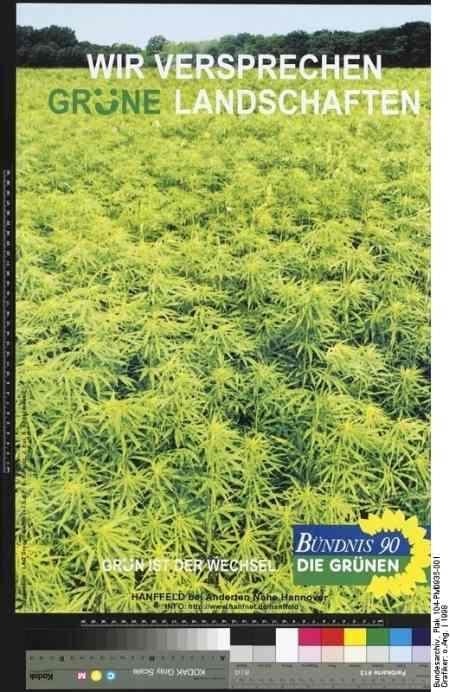 Plakat der Grünen im Wahlkampf 1998