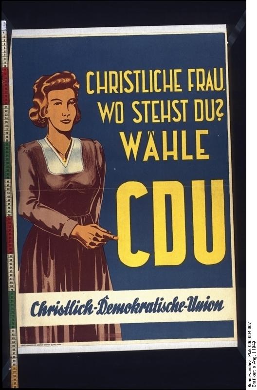 Christliche Frau, wo stehst du? Wähle CDU