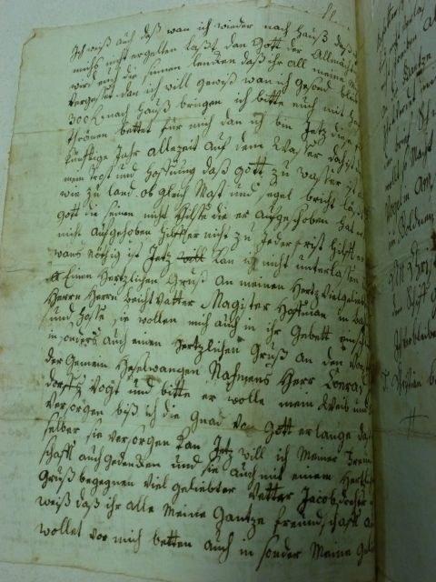 Bantlen Brief 2. Seite