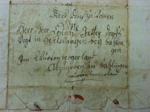 Briefumschlag von Christian Bantlen