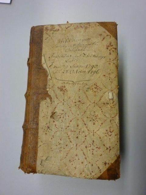 Inventurbuch von oben