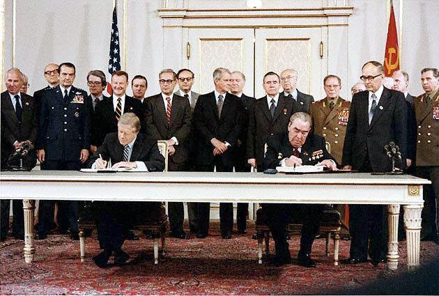 Unterzeichnung des SALT-2-Vertrags