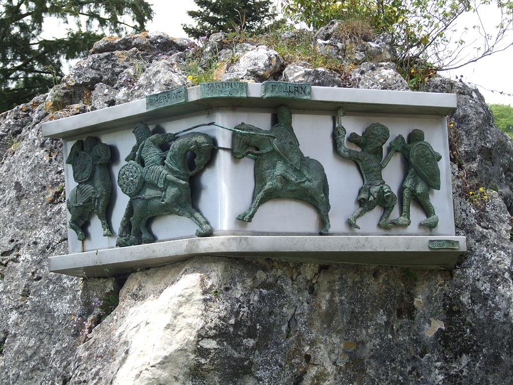 Erinnerungstafel an die Schlacht von Roncesvalles 778