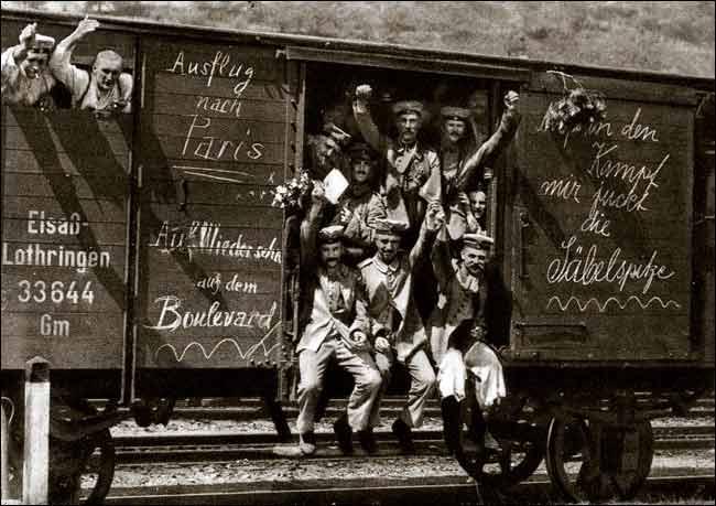 Vermeintliche Kriegsbegeisterung 1914