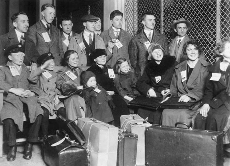 Einwanderer auf Ellis Island