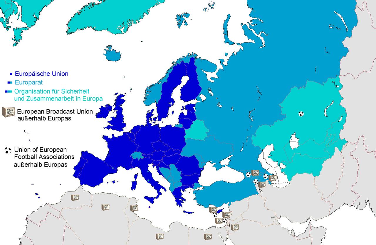 Politische und kulturelle Organisationen in Europa