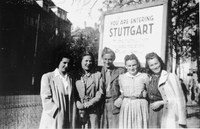 Der Eingang des DP-Lagers Reinsburgstraße im Stuttgarter Westen