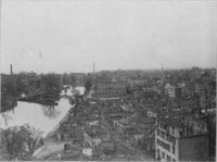 Zerstörte Kernstadt von Heilbronn 1945