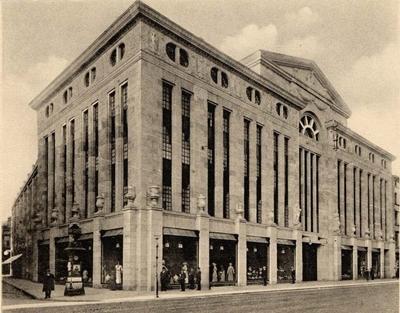 Das neu erbaute Warenhaus  der Geschwister Knopf in Karlsruhe