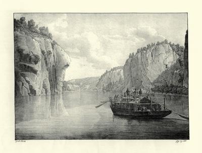 """""""Ulmer Schachtel"""" (Lithographie von Jakob Alt, Nachdruck des Originals von 1824)"""
