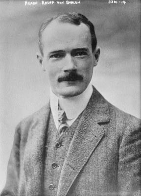 Gustav Krupp von Bohlen und Halbach im Alter von 34 Jahren.