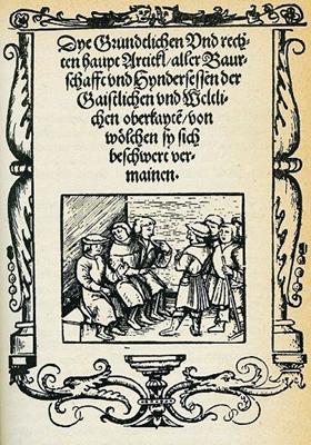 Die Zwölf Artikel der Bauernschaft, 1525