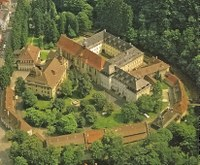 Luftaufnahme der Abtei Lichtenthal von 1994