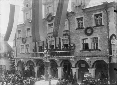 Einweihung des neuen Rathauses in Sigmaringen am 9.1.1927