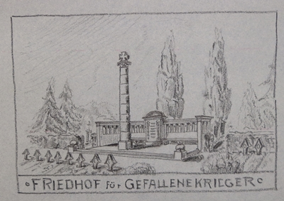 Skizze für Kriegerdenkmal Unter den Linden (o.J.)