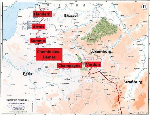 Karte Westfront