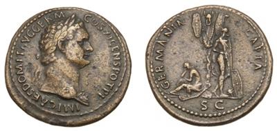 Römische Kaisermünze des Domitian