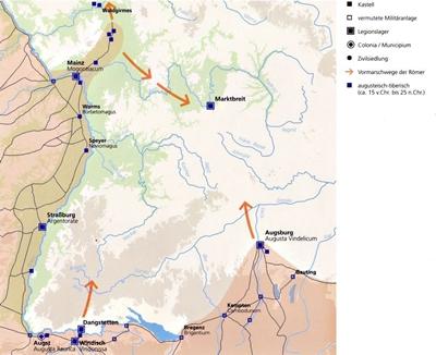 Militärlager zwischen 15 v. Chr. und 25 n. Chr.