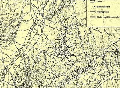 Verbreitung der ländlichen Einzelsiedlungen in Baden-Württemberg