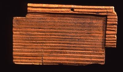 Schreibtäfelchen aus dem Jahr 186 n. Chr.