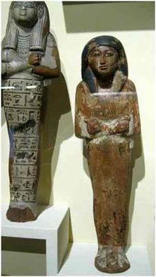Ushebti-Figuren aus dem Museum der Universität Tübingen MUT