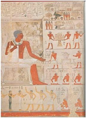 Die Südwand der Tübinger Mastaba