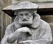 Johannes Brenz (1499 – 1570) Reformationsdenkmal vor der Hospitalkirche Stuttgart