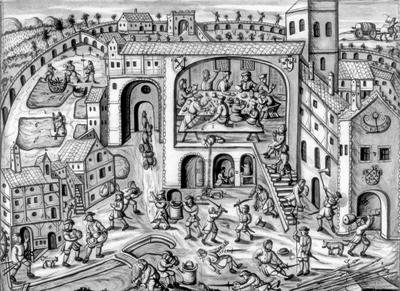 Bauern plündern das Kloster Weißenau