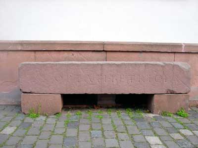 Steinquader aus dem römischen Theater