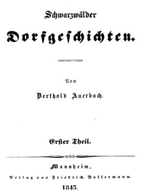 Erstausgabe der Schwarzwälder Dorfgeschichten