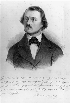 ithographisches Portrait Berthold Auerbachs