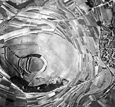 Der Ipf - Luftaufnahme von 1936
