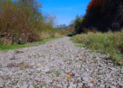 Donauversickerung in Richtung Osten